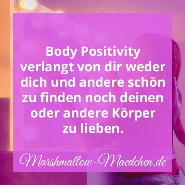 Body Positivity ist bedingungslos. | Zitat | Body Positivity und Selbstliebe | Marshmallow Mädchen