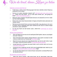 Checkliste | Wie du lernst, deinen Körper zu lieben | Marshmallow Mädchen | Body Positivity Deutschland
