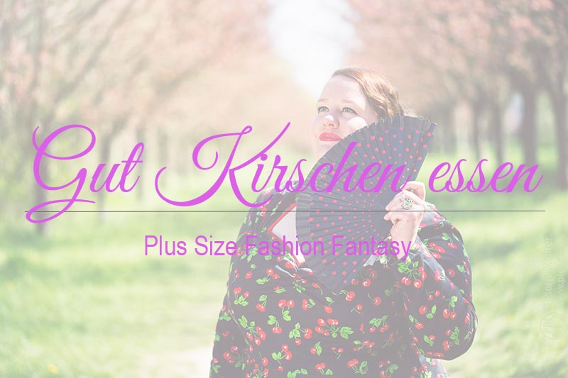 Gut Kirschen essen | Plus Size Fashion Fantasy | Body Positivity, Selbstliebe, Plus Size Mode, Plus Size Model
