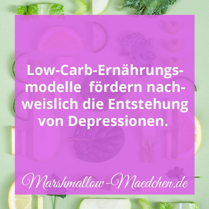 Low-Carb-Ernährungsmodelle fördern nachweislich die Entstehung von Depressionen. | Zitat | Body Positivity und Selbstliebe | Marshmallow Mädchen